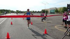 Marathon Finish Line Winner - stock footage