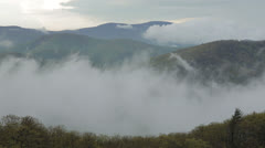 Layered Clouds in the Shenandoah Valley Pan Stock Footage