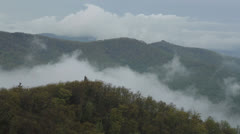 Layered Clouds in the Shenandoah Valley Stock Footage