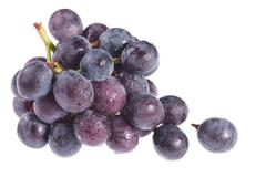 Isolated fresh ripe grapes Stock Photos