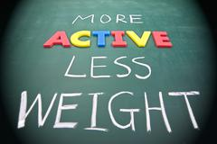 more active less weight - stock photo