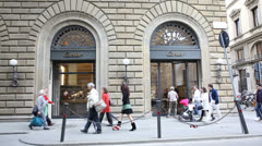Cartier store in Italy Stock Footage