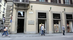 Dolce & Gabana store in Italy Stock Footage
