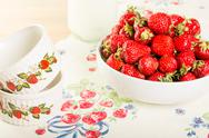 Stock Photo of bowl of fresh strawberries