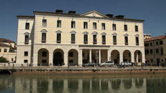 University Palace. Treviso, Italy Stock Footage