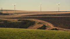 Scottish Windmill Trio Stock Footage