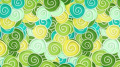 Yellow green cyan curles ornatment loop 4k Stock Footage