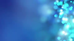 Loopable abstract background blue bokeh circles 4k Stock Footage