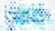Stock Video Footage of blue triangles geometric background loop