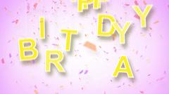 Happy birthday greeting loop Stock Footage
