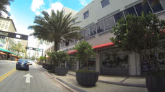 Flagler Street at Downtown Miami Stock Footage