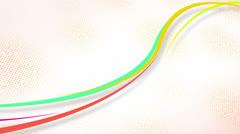 Curvy colorful lines loop Stock Footage