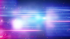 blue red light and glowing particles loop background - stock footage