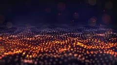 Glow particle field loop Stock Footage