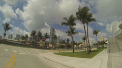 Downtown Miami American Airlines Arena Stock Footage