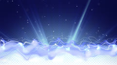 Blue flow and particles loop Stock Footage