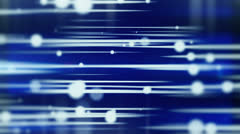 Lines and blurred circles blue loop background Stock Footage