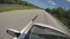 A car driving on the highway Stock Footage