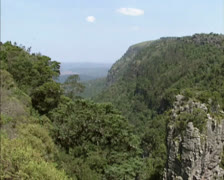 Drakensberg or Dragon Mountains pan  pinnacle rock Stock Footage