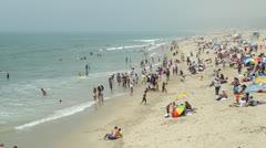 People on the Santa Monica Beach - stock footage
