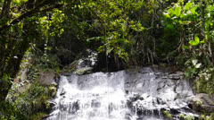 Waterfalls at El Yunque Tropical National Forest 4 Stock Footage