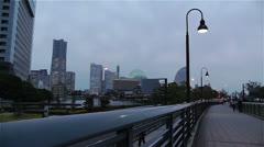 Yokohama Japan at Night 1 Stock Footage