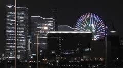 Yokohama Japan at Night 4 Stock Footage
