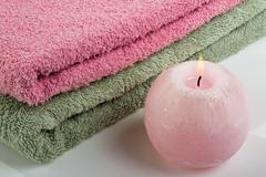 Aromatic candle Stock Photos