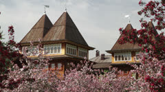 Wooden Palace of Tsar Alexei Mikhailovich Stock Footage