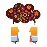 Brainstorming - stock illustration