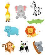 Safari Animals - stock illustration