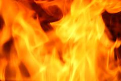 Fire yellow abstract background Stock Photos