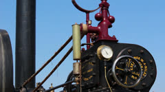 Vintage Steam Engine - stock footage