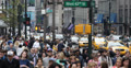 Ultra HD 4K Crowded Urban Scene NYC Business Corporate People Walk Busy Streets Footage