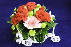 Bouquet of fresh flowers Stock Photos