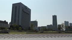 Yokohama Seaside Japan 5 pan Stock Footage