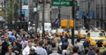 Ultra HD 4K Urban Scene in New York City, NYC Crowded Rush Hour, Streets Commute Footage