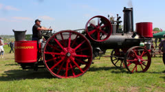 Vintage Steam Engine Stock Footage