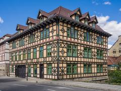 half-timbering house - stock photo
