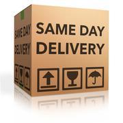 Same day delivery Stock Illustration