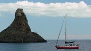 Stock Video Footage of Sailing Boat moored in Aci Trezza