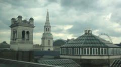 Roof tops London Stock Footage