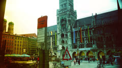 HD, Munich Marienplatz Stock Footage
