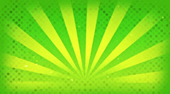 Bright green rays loop Stock Footage