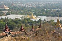 Mandalay city scenery - stock photo