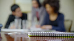 Business partners in a meeting, discuss their business strategy Stock Footage