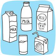 Milk and diary products Stock Illustration