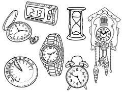 Joukko kellot Piirros