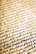 Declaration of Independence background - stock photo