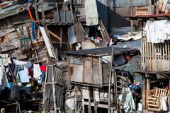Shanty - squatter housing in asia - stock photo